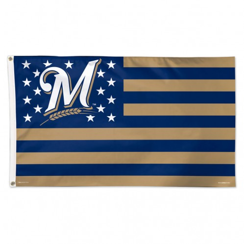 Milwaukee Brewers Deluxe 3'x5' Flag
