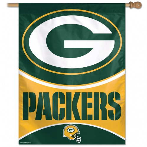 Green Bay Packers Vertical House Flag