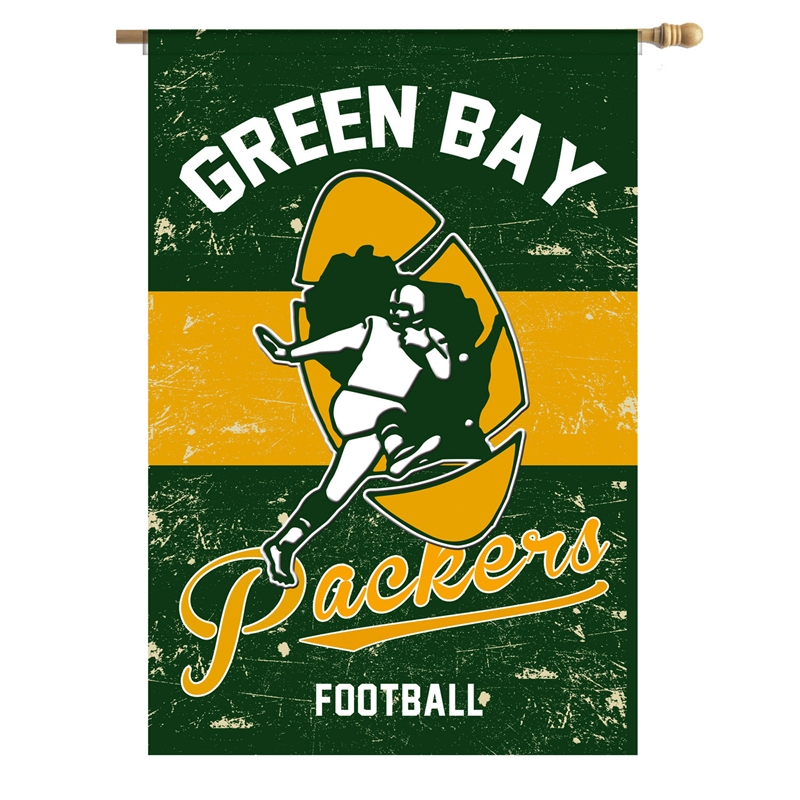 Green Bay Packers Vintage Linen House Flag