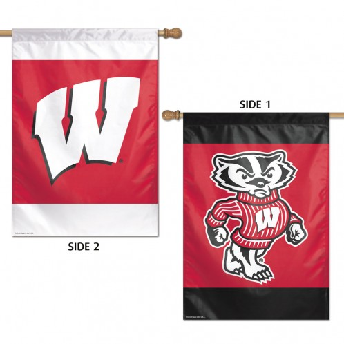 Wisconsin Badgers Premium 2-Sided Vertical Flag