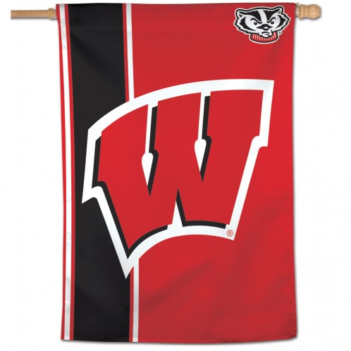 UNIVERSITY OF WISCONSIN, BLACK VERTICAL FLAG