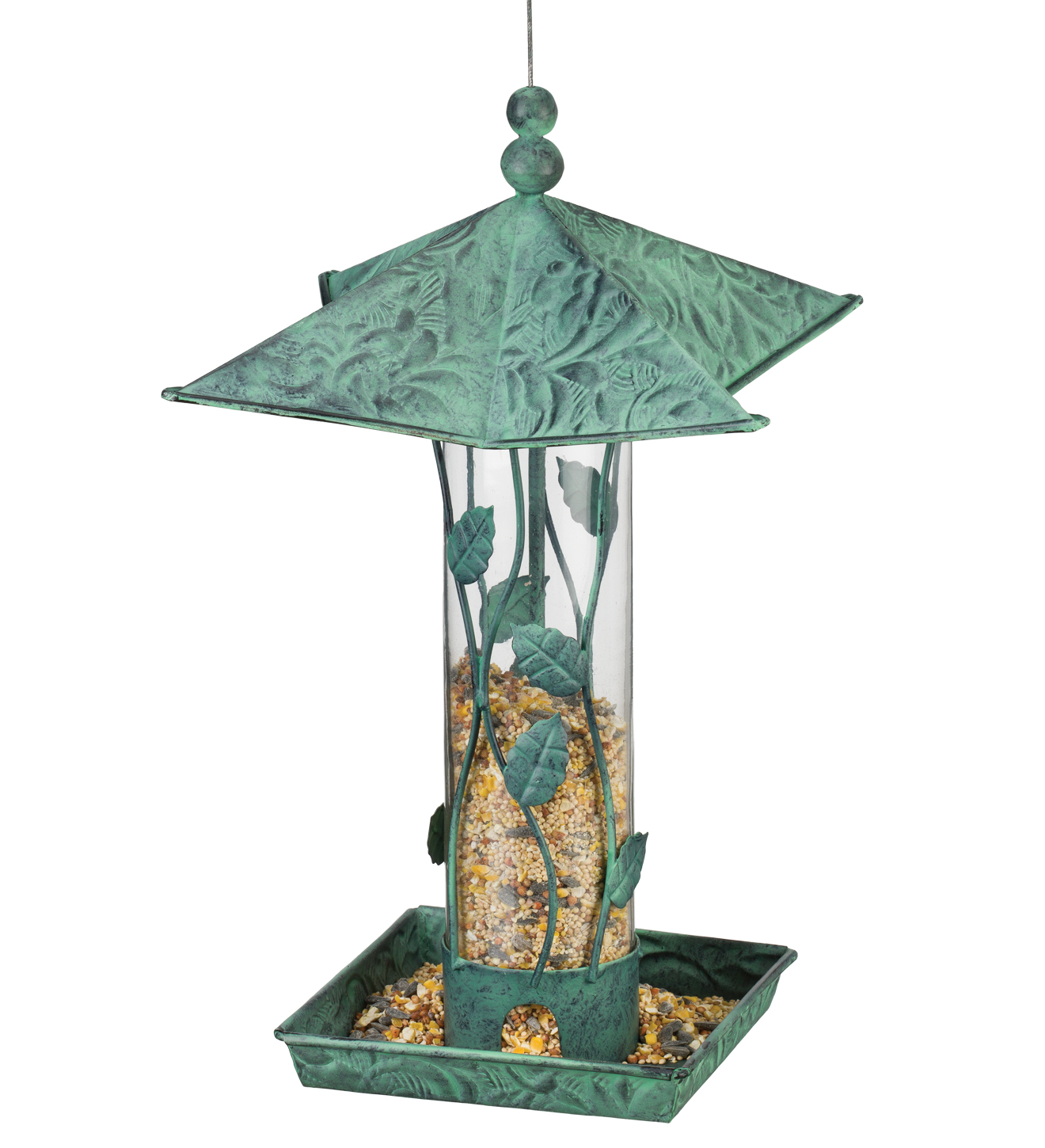 Bird Feeder - Green Branches